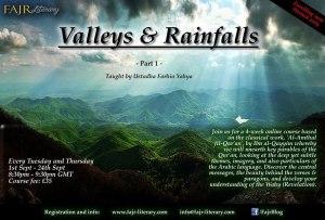 Valleys and Rainfalls